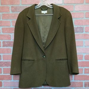 LL Bean Women's Brown wool/cashmere blazer 6R